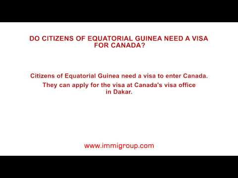 Do citizens of Equatorial Guinea need a visa for Canada?