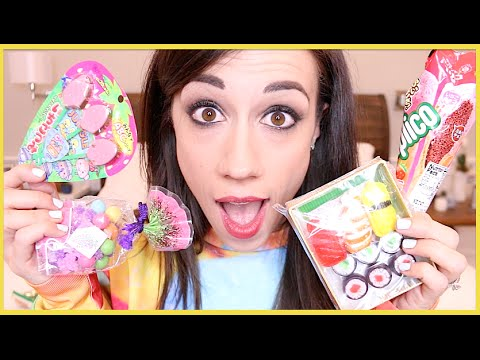 TRYING CUTE JAPANESE CANDY!