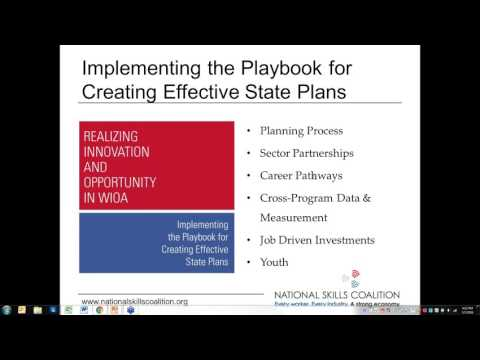 Webinar: WIOA State Plans: Realizing Innovation and Opportunity