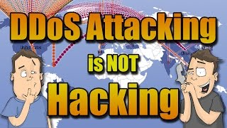 DDoS attacks require no skill, it's not hacking...