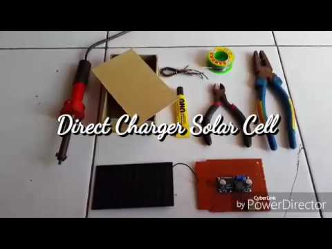 Pembangkit Listrik Alternatif with Direct Charger Solar Cell