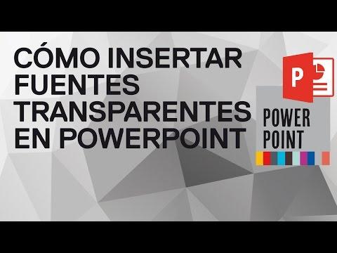 Cómo insertar texto transparente en Powerpoint 2013 y 2016. Fuente transparente en PowerPoint
