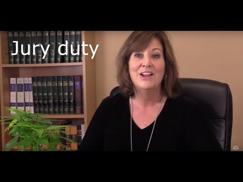 How Jury Duty works. Video #1 of the series.