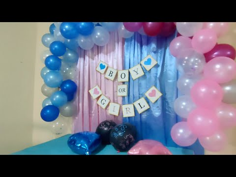 PREPARATION FOR THE GENDER REVEAL PARTY