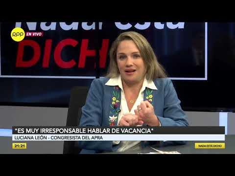 """Luciana León: """"Rosa Bartra ha hecho un buen trabajo en Constitución"""""""