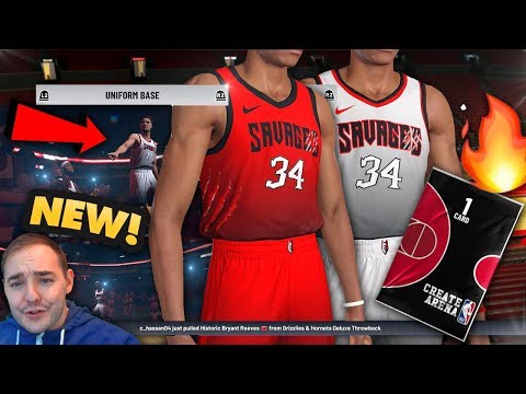 NBA 2K19 My Team NEW CUSTOM JERSEYS DESIGN FEATURE! THESE JERSEYS ARE FLAMES!!!
