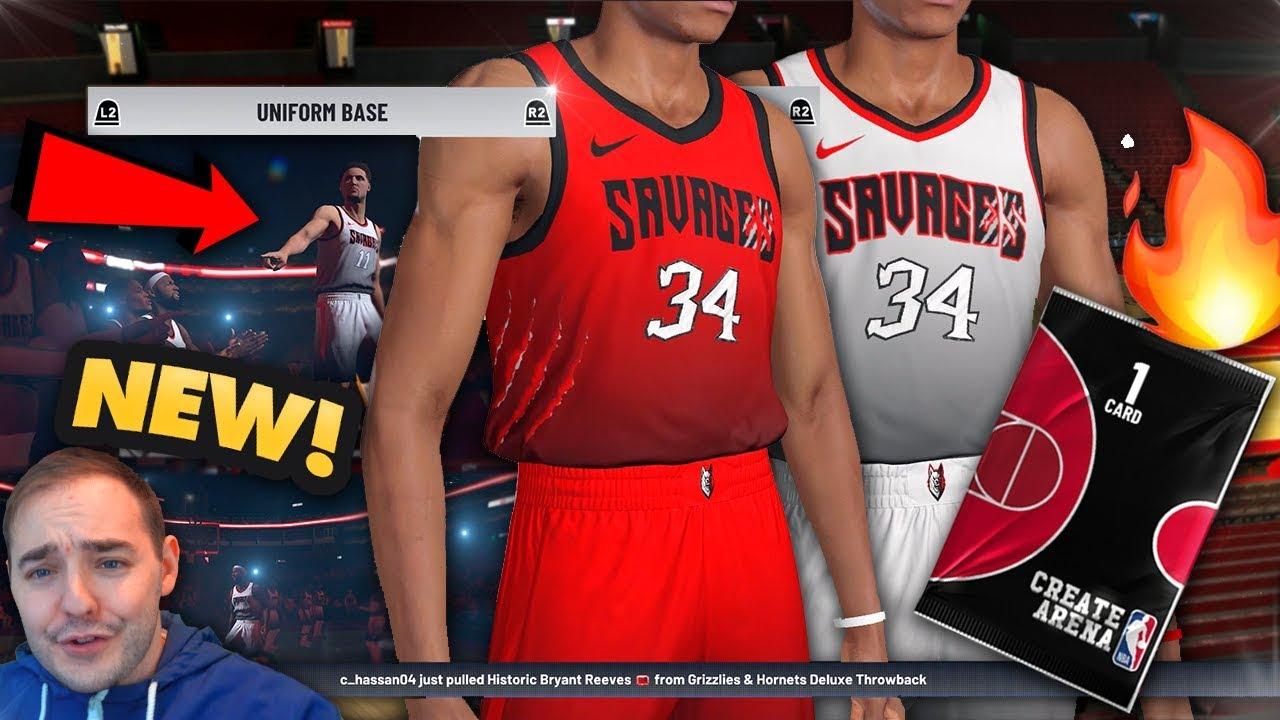 39a2235f36e NBA 2K19 My Team NEW CUSTOM JERSEYS DESIGN FEATURE! THESE JERSEYS ...