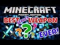 ✔️BEST WEAPON IN MCPE [Minecraft Pocket Edition] || Fastest killing item known to all mobs!