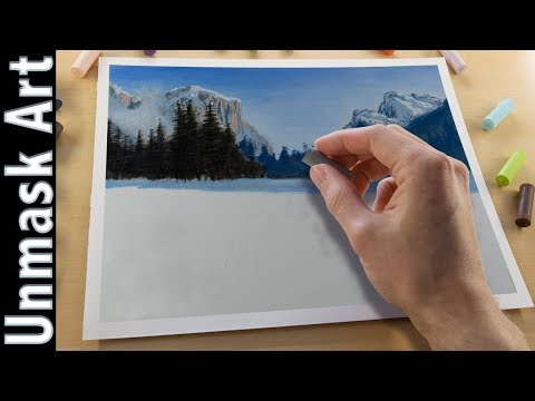 Beautiful Winter Landscape Painting with Soft Pastels | Live Tutorial Part 1