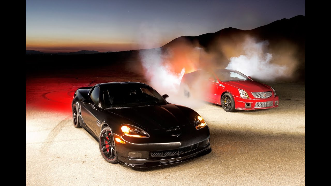 Burnout Super Test 5: Corvette Z06 Centennial Edition vs. Cadillac CTS-V Coupe