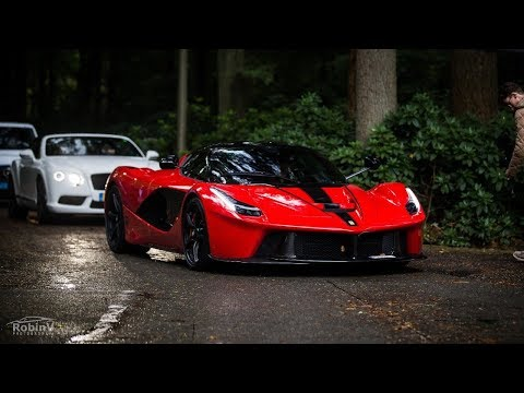 Supercars Arriving @Cars & Business – LaFerrari, Veyron, Aventadors, Olsson Huracán.. – LOUD Sounds!