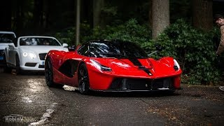 Supercars Arriving @Cars & Business - LaFerrari, Veyron, Aventadors, Olsson Huracán.. - LOUD Sounds!