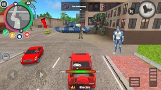 Rope Hero: Vice Town (Car Shadowing - Hard Mission) Rope Car Chase Yellow Car - Android Gameplay HD screenshot 4