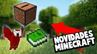 MINECRAFT FICOU 10X MELHOR | Minecraft Atualização (Papagaio de Festa, Advancements)