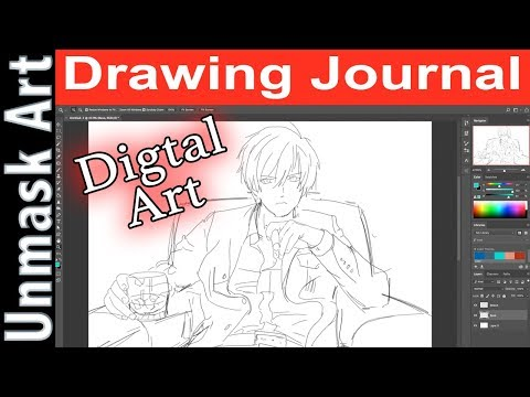 """Trying Digital Painting?"" Drawing Journal LIVE #56"