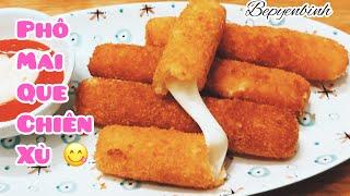 Gambar cover Cách làm phô mai que đơn giản giòn rụm béo ngậy ăn là mê/ phô mai que rán/ Bếp Yên Bình