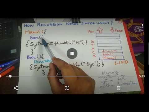 #9How Recursion Works Internally|Part1|Data Structure And Algorithm|STUDY LIKE PRO|#CS Dojo|#JAVA