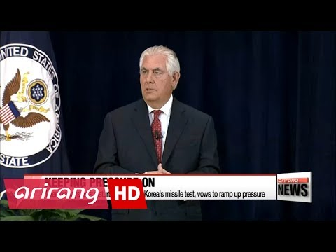 North Korea missile test disappointing and disturbing: Tillerson