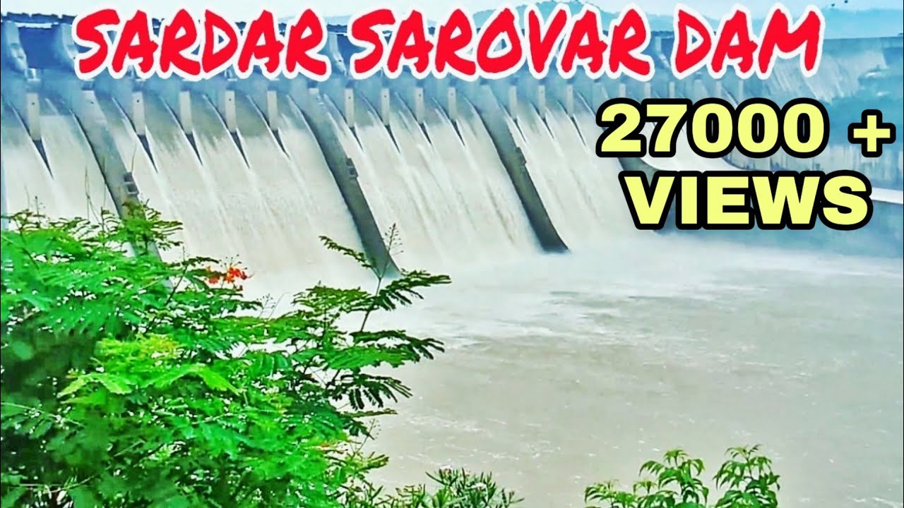 Sardar Sarovar Dam  Overflow  Narmada Dam Overflow -5300