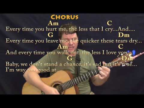 Too Good At Goodbyes (Sam Smith) Strum Guitar Cover Lesson In Am With Chords/Lyrics