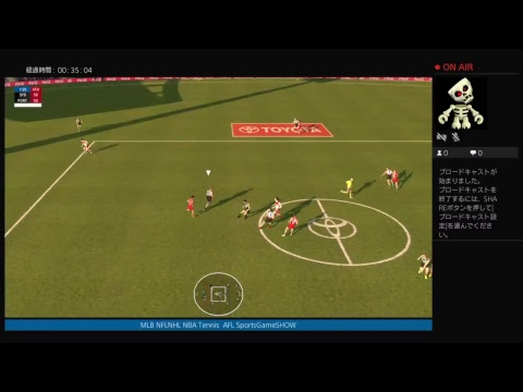 PS4 AFL2018 premiership ROUND2 SYDNEYSWANS @ POST ADELAIDE Full Game2018.4.1 AFL2-8