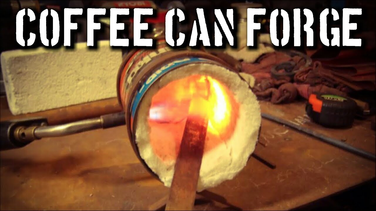 Making a Coffee Can Forge in 15 Minutes: DIY Forge For Beginners - YouTube