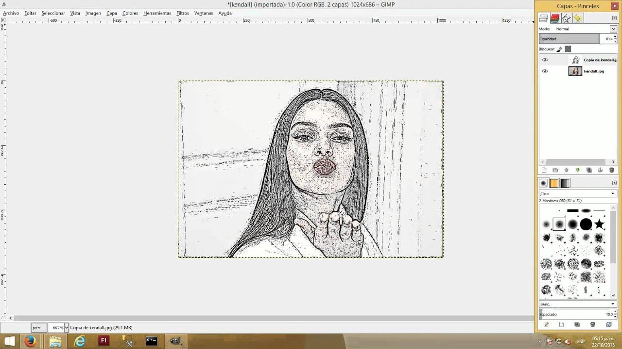 Convertir una imagen a dibujo con Gimp  YouTube