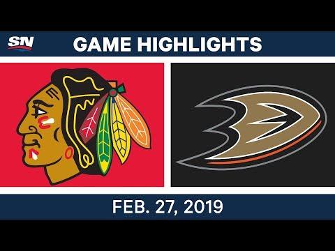 NHL Highlights | Blackhawks vs. Ducks - Feb 27, 2019