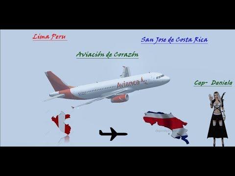 Avianca A320 SPJC (Lima) - MROC (San Jose Costa rica)