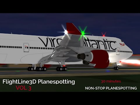 30+ Minutes of Planespotting Vol. 3! | Flightline | ROBLOX Gameplay