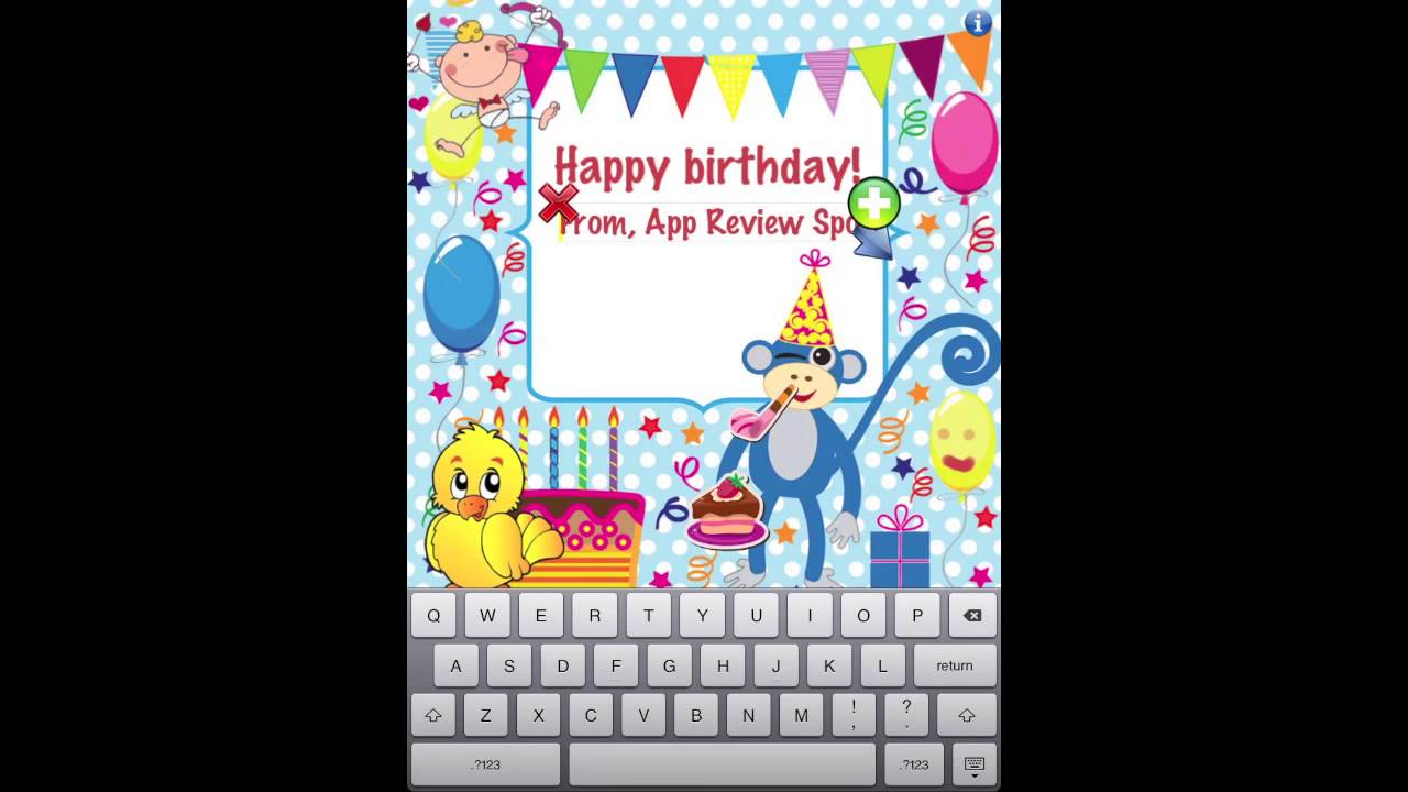 Birthday card creator iphoneipad review youtube birthday card creator iphoneipad review bookmarktalkfo Image collections