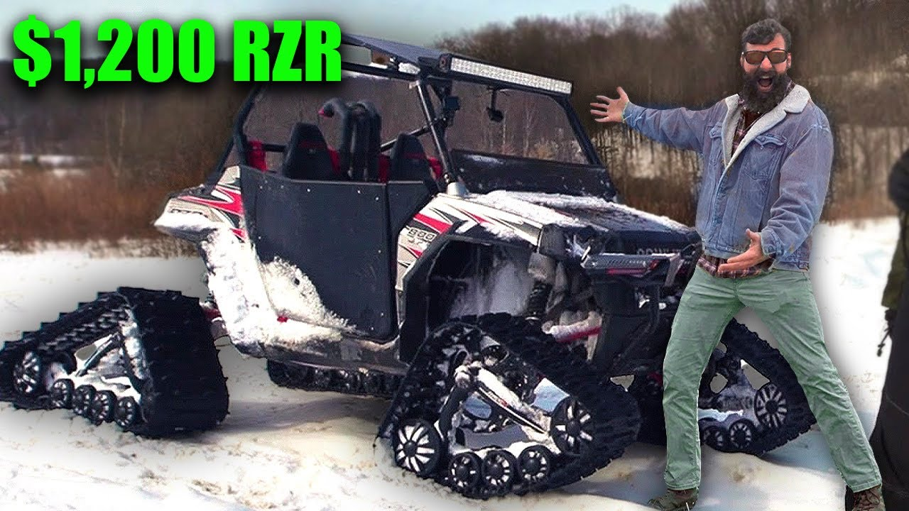 Testing out the cheapest RZR in the snow