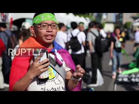 Taiwan: Protesters rally for nuclear-free island in Tapei