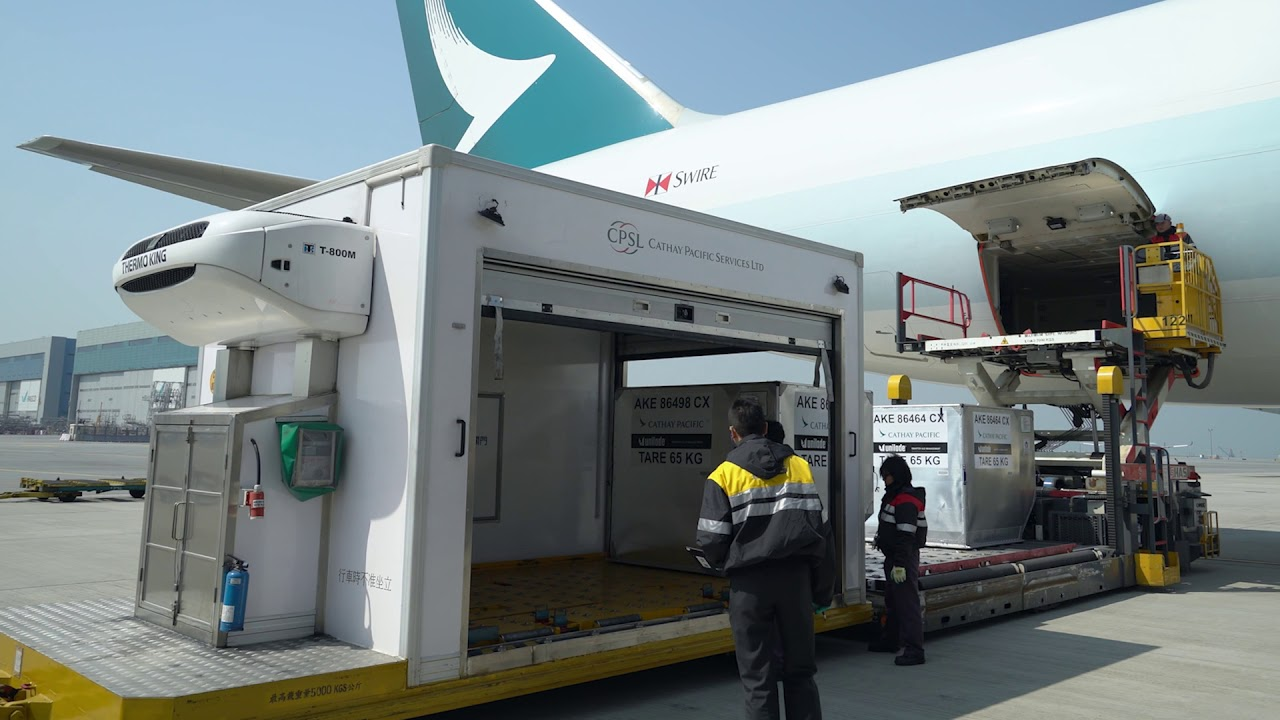 Image result for HKIA – Hong Kong International Airport, cargo, cathay pacific