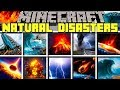 Minecraft NATURAL DISASTERS MOD | TSUNAMI, TORNADO, VOLCANO & MORE! | Modded Mini-Game