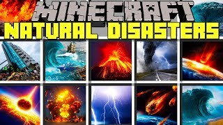 Minecraft NATURAL DISASTERS MOD / TSUNAMI, TORNADO, VOLCANO & MORE! / Modded Mini-Game