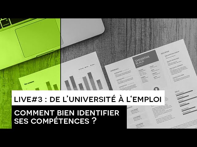 [INSERTION] : LIVE#3 de l'Université à l'emploi