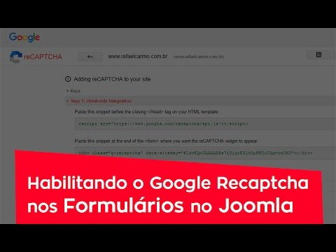 Habilitando O Google Recaptcha No Joomla