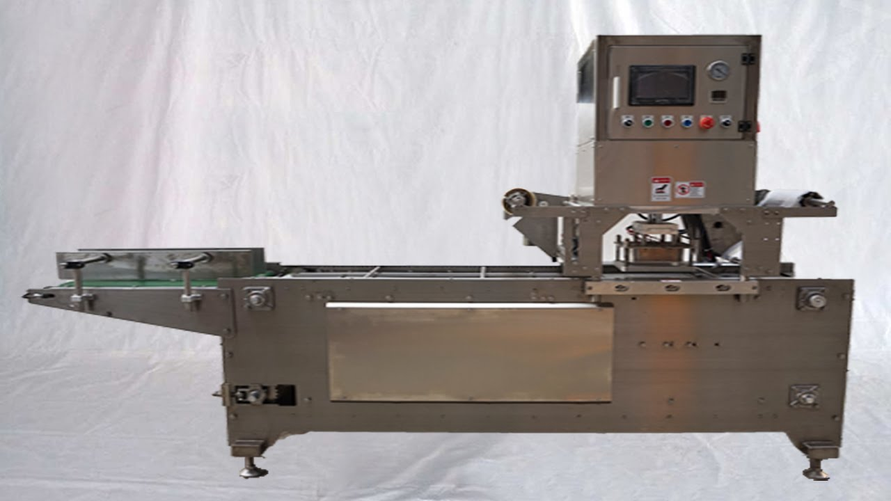 35482b3f2a7 Tray sealing machine automatic boxes food sealer Nitragen gas flushing  máquina de sellado automático