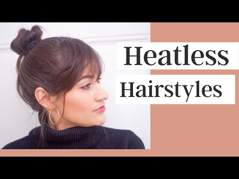 Heatless Hairstyles For Short & Medium Length Hair - YouTube