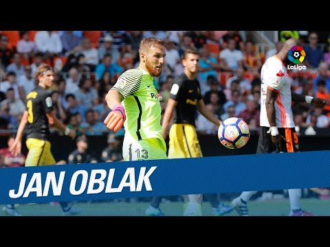 TOP 10 Saves Jan Oblak LaLiga Santander 2016/2017 - Zamora Trophy