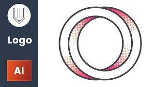 Halftone effect in logo design. Adobe Illustrator tutorial