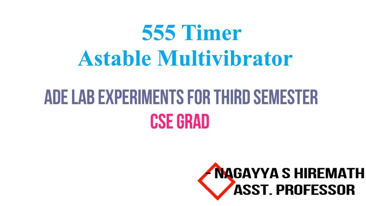 555 Timer Experiment Astable Multivibrator Ade Lab Vtu 3rd Sem Oscillator