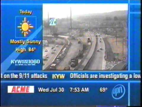 KYW Newsradio 1060 on UPN 57 Philadelphia, July 30, 2003, 7:52 traffic report, Steve Skalish