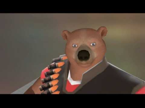 TF2 heavy bear test eyes, eyelid command correct qc - YouTube