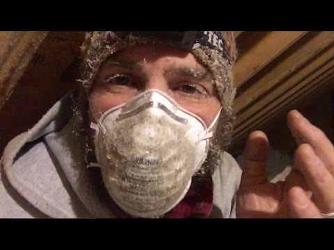 Doin' the Dirty--Attic Air-sealing.  Maine VLOG 243