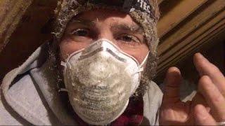 Doin' the Dirty--Attic Air-sealing.  Maine VLOG 243