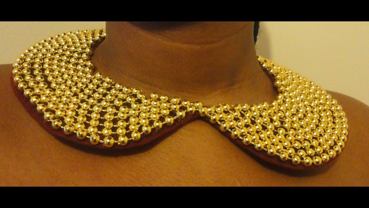 Peter pan pearl collar necklace
