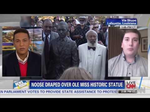 Noose found draped around historic Ole Miss statue