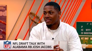 Josh Jacobs on the NFL Draft and his Unstable Childhood  | SI Now | Sports Illustrated